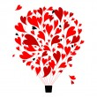 Air love concept, balloon with hearts for your design — Stock Vector