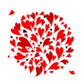 Fundo de corações vermelhos para seu projeto — Vetorial Stock