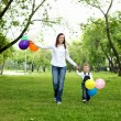 Mother with her son outside — Stock Photo #10827401