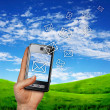 Mobile phone communication — Stock Photo #10827828