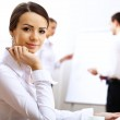 Portrait of a business woman in office — Stock Photo #10829196