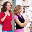 Young woman doing shopping — Foto Stock