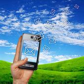 Mobile phone communication — Stock Photo