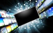 Schermi di computer con immagini — Foto Stock