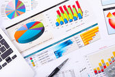 Graphs, charts, business table. — Stockfoto