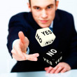 Dice as symbol of risk and luck - Stock Photo