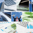 Business collage of some business pictures — Stock Photo