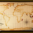 Old paper world map — Stock Photo #10831752