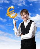 关于商业和金钱主题拼贴画 — 图库照片