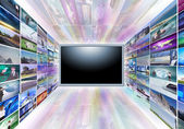 A flat screen television — Foto Stock