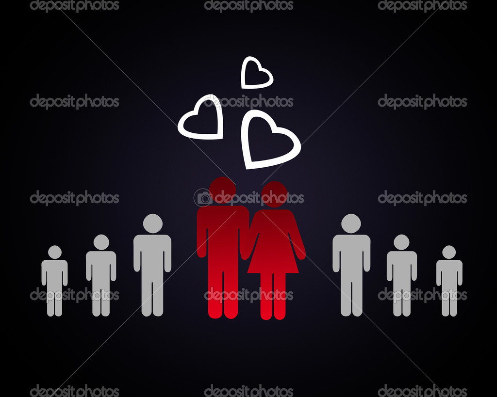 Couple in love -man and woman with together — Stock Photo #10962440