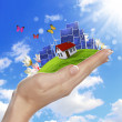 Ecology and safe energy - Stock Photo