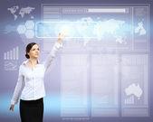 Virtuální technologie v podnikání — Stock fotografie