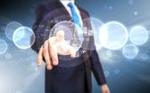 Virtuele technologie in bedrijf — Stockfoto