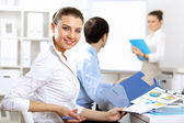 Young business working together — Stock Photo