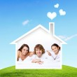 Dreams of young family — Stock Photo #11101897