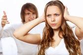 Giovane coppia in conflitto — Foto Stock