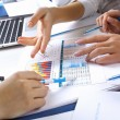 Financial papers on the table — Stockfoto