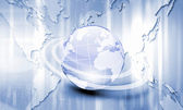Planet earth and technology background — Stock Photo