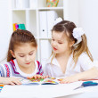 Stock Photo: Little girl and study