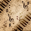 Music notes background — Stock Photo