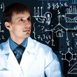Young scientist in laboratory — Stock Photo #11185703