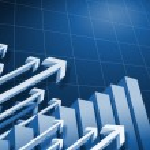 Charts and upward directed arrows — Stock Photo #11185831
