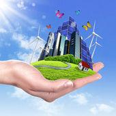 Ekoloji ve güvenli enerji — Stok fotoğraf