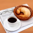 Black coffee in a cup - Foto Stock