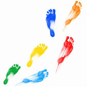 Prints of human feet — Stock Photo