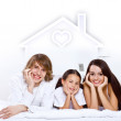 Dreams of young family — Stock Photo #11273146