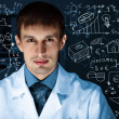 Young scientist in laboratory — Stock Photo #11273189
