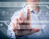 Tecnologia da tela de toque — Foto Stock