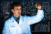 Young scientist in laboratory — Foto Stock