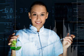 Young scientist in laboratory — Foto de Stock