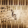 Music notes background — Zdjęcie stockowe