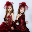 Stock Photo: Little girls in beautiful dress