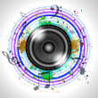 Image of music speaker - Stock Photo
