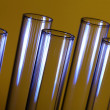 Glass chemistry tubes — Stock Photo