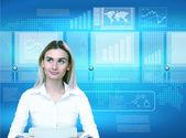 Technologie virtuelle dans l'entreprise — Photo