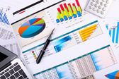 Financial papers on the table — Stock Photo