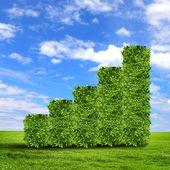 Zelené trávě šipky — Stock fotografie