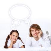 Marzenia młodych rodzin — Zdjęcie stockowe