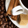 Stock Photo: Coffee beans and white cup
