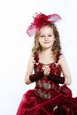 Little girl in beautiful dress — Stock Photo