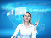Virtual technology in business — Stock Photo