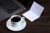 Coffee at business workplace — Stock Photo