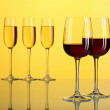 Glasses with wine — Stock Photo #11741398
