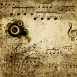 Stock Photo: Music notes background