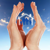 Family and house — Stock Photo